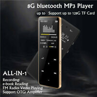 8GB Bluetooth MP3 MP4 Lossless Sound 2.4'' Touch Player FM Recorder up to 128GB