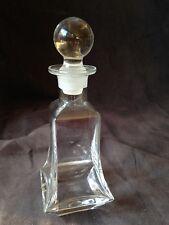 Vintage Decorativo Vidrio Transparente Botella con Inferior Llamarada, con /