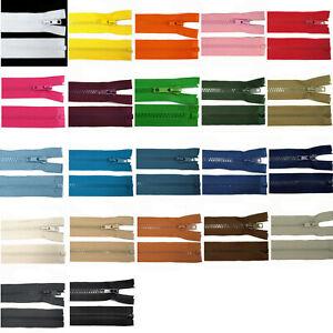 Reißverschluss teilbar, 5mm Kunststoff - 40cm 50cm 55cm 60cm 65cm - viele Farben