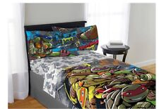 Teenage Mutant Ninja Turtles Leo Twin Sheets & Plush Bed Blanket 4pc New Kids
