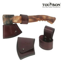 TOURBON Leather Axe Protection Holsters Hatchet Head Cover+Handle Holder Set USA