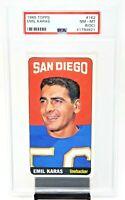 1965 Topps #162 Chargers EMIL KARAS Vintage Football Card PSA 8 (OC) NM-MINT