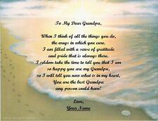 Grandpa~Grandfather~Granddaddy~Papa~Granddad Personalized Poem Footprints