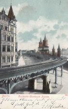 Lithographie aus Berlin mit dem Thema Brücke