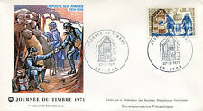 FRANCE 1971 - FDC 1671 1 JOURNEE DU TIMBRE - pn2
