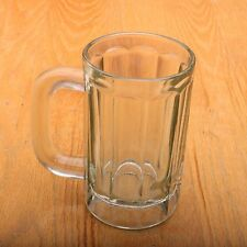 Clear Glass Stein Linear Pattern Drinking Glass Vintage
