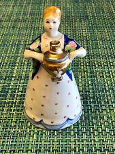 "Vintage Porcelain Figurine USSR ""GIRL WITH SAMOVAR"" Dulevo the 1980s, Malysheva"