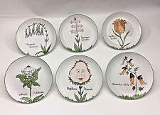 Vtg Taste Setter Plates Set of 6 by Sigma Nonsense  Funny Plants Animals Japan