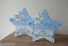 PERSONALISED WOODEN STAR  FOR NEW BABY/CHRISTENING GIFT/BIRTHDAY KEEPSAKE