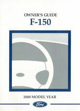 2000 Ford F-150 Truck Owners Manual User Guide Reference Operator Book