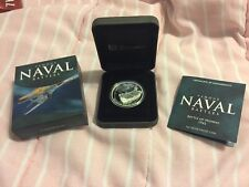 Cook Islands 2011 Famous Naval Sea Battles #5 Midway 1942 $1 Silver Proof WWII