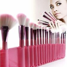 New 22Pcs Soft Cosmetic Makeup Brush Brushesh Set Kit with Pouch Case Bag Pink