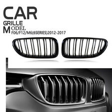 For F06 F12 F13 12-16 BMW M6 Front Grille Grill Gloss Black 640i 650i Cover Trim