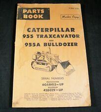 CAT Caterpillar 955 955A Traxcavator Dozer Parts Manual 60A8413 Up 42D329 Up OEM