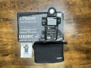 Sekonic L-758DR DigitalMaster, Programmable Digital Flash & Ambient Meter, NR!