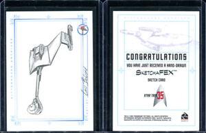 2001 Rittenhouse Star Trek 35th Anniversary Bird Of Prey Cris Bolson Sketch Card