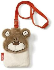 Nici 34281 Mobile Phone Case Bear Plush, Figurative 8 X 12 CM, Light Brown Cover