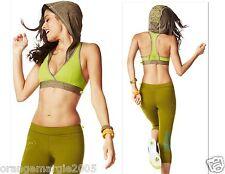 ZUMBA 2Pc.Set! Oh My Hoodness V-Sports BRA & Capri Leggings-Mix+Match Size-S M L