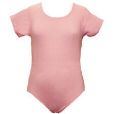 Mondor 496 Cherry Pink Toddler Child's Extra Small (2-4) Short Sleeve Leotard