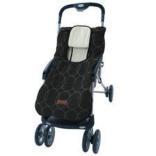 Stroller Blanket or Stroller Cover & Baby Bunting Bag Deluxe Black Embroidered