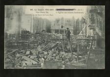 France WW1 1916 PPC VILLERS Ruines de l'Abbaye de l'interview...