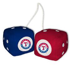 TEXAS RANGERS PLUSH FUZZY DICE CAR MIRROR DANGLER MLB BASEBALL