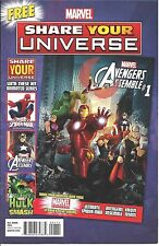 MARVEL SHARE YOUR UNIVERSE GIVEAWAY PROMO SPIDERMAN AVENGERS HULK NM PROMOTIONAL