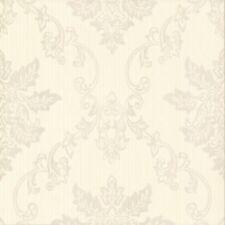 1601-106-02 - Rosemore Damask Striped Cream Taupe 1838 Wallpaper
