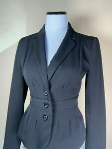Elle Women's Blazer Fitted, Black, Size 2