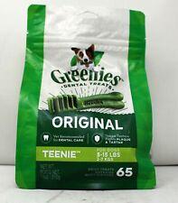 Greenies Dental Treats Original Teenie For Dogs 65 Count (5-15 lbs)