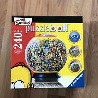 The Simpsons 240 Piece Puzzle Ball 3D Ravensburger Sealed Plastic 2007