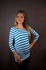 LoveCassy Maternity top Maternity clothes Blue&W Stripe size 8 10 12 14 16 18