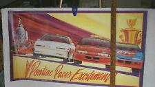 PONTIAC PACES EXCIETMENT INDY & NASCAR PACE & RACE CARS POSTER 17 X 36 COLOR