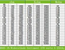 4250 stk SMD 0805 Widerstände Sortiment170 sorte X 25Stk. 0805, nur bei ogeled
