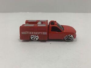 Maisto Utility Truck Fire Department FD Diecast Vehicle Red & White