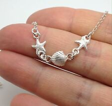 Seashell Seaside Starfish Necklace Sterling Silver, New, Actual One. UK Seller.