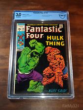 Fantastic Four 112 3.0 CBCS. Classic Buscema Hulk vs Thing Cover. Wall Book!