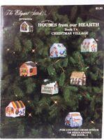 Elegant Stitch Cross Stitch Pattern Booklet Christmas Village Houses Ornaments
