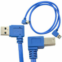 1m USB 3.0 A male plug Left angle 90 degree to USB 3.0 B male Right angle Cable