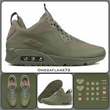 Nike Air Max 90 Patch Sneakerboot SP 704570-300 UK 6, EUR 40, USA 7 Steel Green