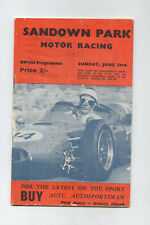 1963 Sandown Park Programme Racing Sports Touring Race Program Lotus Cooper