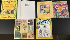 Lot Of 6 Rubber Stamping Books