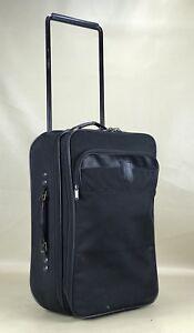 "Hartmann Classic Black Ballistic Nylon 22"" Upright Wheeled Carry On Suitcase"