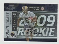 Brooks Foster Rams 2009 Playoff Contenders Rookie Ticket Auto #151