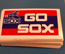 "5 Vintage CHICAGO WHITE SOX ""GO SOX"" Bumper Stickers NOS '80's Unused"