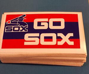 "30 Vintage CHICAGO WHITE SOX ""GO SOX"" Bumper Stickers NOS '80's Unused"