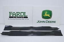 More details for genuine john deere blades am140973 42m deck ride-on mower set of 2 blade