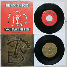 """WOODENTOPS - 2 x 7"""" → Well Well Well  7""""1985 Rough Trade & → YOU MAKE ME FEEL 7"""""""