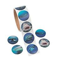 SHARK PARTY Stickers Photo Realistic Sharks Jaws Sticker Pack of 50 Free Postage