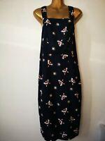 TU 8 Dark Blue Mix Strappy Side Button Fasten Y Back Summer Dress
